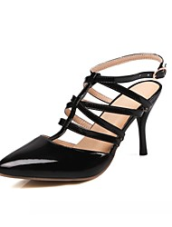 cheap -Women's Shoes Synthetic Leatherette PU Spring Summer Fall Winter Comfort Novelty Heels Walking Shoes Stiletto Heel Pointed Toe Buckle For