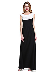 cheap -Sheath / Column Cowl Neck Floor Length Chiffon Mother of the Bride Dress with Beading / Pleats by LAN TING BRIDE®