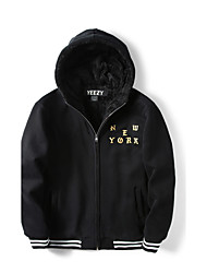 Men's Daily School Street Chic & Modern Hoodie Jacket Print Others Hooded strenchy N/A Long Sleeve Winter