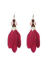 cheap -Drop Earrings Jewelry Wedding Party Halloween Daily Casual Sports Alloy Feather Enamel 1 pair As Per Picture
