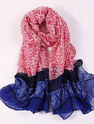 cheap -Women Western Style Cotton Polyester Scarf Vintage Party Casual Rectangle Red Black Blue Pink Gray Khaki Print