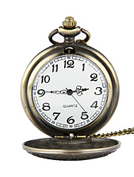 cheap -Men's Pocket Watch Quartz Casual Watch Alloy Band Charm Bronze