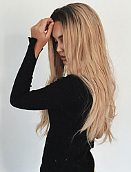 cheap -Synthetic Wig Wavy Synthetic Hair Heat Resistant / Ombre Hair / Dark Roots Blonde Wig Women's Long Capless