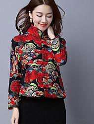 les nouveaux automne et en hiver les femmes&# 39; de modèles rétro féminins vent national veste en coton matelassé court paragraphe