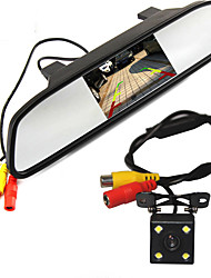 cheap -High Resolution 5 Color HD TFT LCD Car Rearview Mirror Monitor 800*480 With Auto Rear View Camera Parking Monitor System