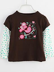 cheap -Baby Girls' Daily Blouse, Cotton Spring Fall Khaki