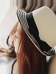 Недорогие -Жен. Очаровательный Праздник Панама Соломенная шляпа Шляпа от солнца Однотонный