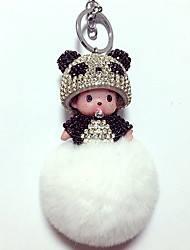 cheap -Dolls Balls Key Chain Toys Duck Bear Toys Panda Crystal Cartoon Lovely 1 Pieces Boys' Girls' New Year Christmas Carnival Gift