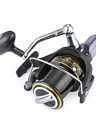 cheap -Fishing Reel Spinning Reels 4.1:1 Gear Ratio+14 Ball Bearings Hand Orientation Exchangable Sea Fishing