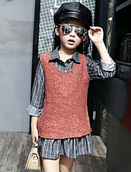 Girl Casual/Daily Striped Sets,Rayon Spring Fall Long Sleeve Clothing Set