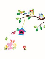 Недорогие -Животные Мода ботанический Наклейки Простые наклейки Декоративные наклейки на стены, Винил Украшение дома Наклейка на стену Стена Стекло