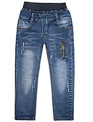 preiswerte -Kinder Jungen Zeichentrick Solide Baumwolle Jeans