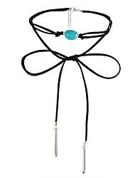 ожерелье бирюзовый ошейник ожерелья ювелирные изделия свадебные вечеринки подарок на день рождения конусность формальный дизайн подвеска кисточки