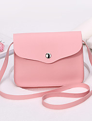 Women Bags PU Shoulder Bag for Event/Party Casual Formal Office & Career All Seasons Red Blushing Pink Apricot Gray Wine