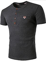 Tee-shirtCouleur Pleine Décontracté / Quotidien simple Manches Courtes Col Arrondi Bleu Rouge Blanc Beige Noir Gris Coton