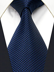 cheap -YXL25  Mens Navy Blue Solid 100% Silk Business Casual Fashion For Men