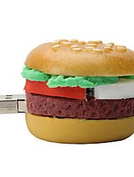 rígido 8GB de borracha hamburger unidade flash USB 2.0