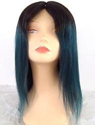 T1B / синий шелковистая прямая волна горячей продажи человеческих волос парики оптовые ломбера девственные волосы для черная женщина