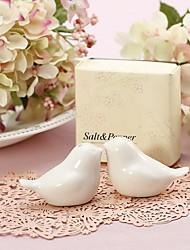 1Set Love Birds Ceramic Salt & Pepper Shakers Wedding Favor Beter Gifts® Wedding Favours