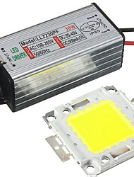 cheap -1Set 30W LED SMD Chip with Waterproof Driver Supply DC20-40V