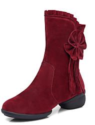 cheap -Women's Dance Shoes  Leather Latin / Dance boots / Modern /Jazz High Heels Chunky Heel Ballroom boots