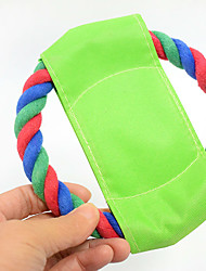 Interactive Dog Toy Frisbee Pet Training Toy 12cm Cat Dog Cotton Frisbee Clean Tooth Bite Rope Pet Products