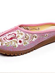 economico -Per donna Scarpe Lino Primavera Estate Comoda Ballerine Piatto per Casual All'aperto Beige Grigio Blu Rosa