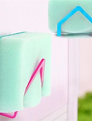 baratos -2pcs novos panos de prato qualificados rack de sucção titular esponja clipe pano rack de armazenamento de cor aleatória