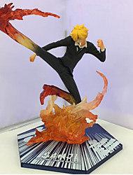cheap -Anime Action Figures Inspired by One Piece Sanji PVC 15.5 CM Model Toys Doll Toy