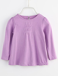 cheap -Baby Girls' Solid Colored Long Sleeve Blouse