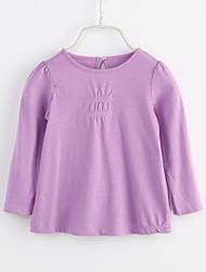 billige -Baby Pige Ensfarvet Langærmet Bluse