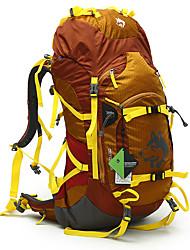 abordables -55 L Mochilas / Mochila - Impermeable, Resistente a la lluvia, Cremallera impermeable Al aire libre Camping y senderismo, Escalada Azul Piscina, Verde Trébol, Amarillo