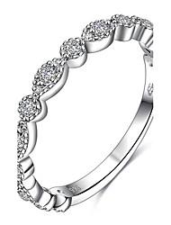 preiswerte -Damen Knöchel-Ring Ring Statement-Ring Personalisiert Geometrisch Einzigartiges Design Euramerican Sterling Silber Zirkon Kreisförmig