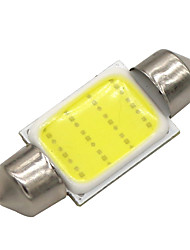 cheap -10x 36mm 3W COB LED 200lm 6000K Cold White Light Dome Festoon Reading Bulb Lamp for Car (DC 12V)