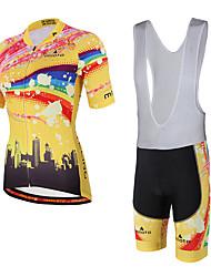 economico -Miloto Maglia con salopette corta da ciclismo Unisex Manica corta Bicicletta Pantaloncini imbottiti di protezione