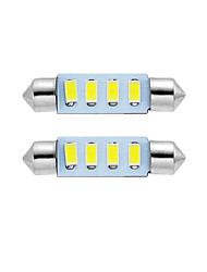 2PCS 39MM LED Festoon Dome Light Reading Lamp License Plate Lamp White