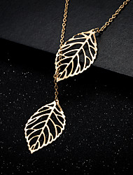 Necklace AAA Cubic Zirconia Pendant Necklaces Chain Necklaces Jewelry Party Birthday Daily Casual Christmas Gifts Leaf GeometricBasic