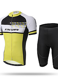 cheap -XINTOWN Cycling Jersey with Shorts Men's Short Sleeves Bike Shorts Jersey Clothing Suits Quick Dry Front Zipper Breathable Soft