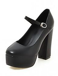 abordables -Femme Chaussures Cuir Verni / Similicuir Printemps / Eté Confort / Nouveauté Chaussures à Talons Marche Talon Bottier Bout rond Points
