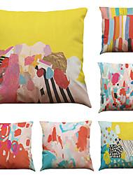 """economico -set di 6 colori colorati graffiti modello biancheria da letto domestico divano da letto quadri decorativi federe (18 """"* 18"""")"""