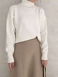 2016 new leisure minimalist candy-colored thick warm high collar hedging long-sleeved knit sweater Korean women