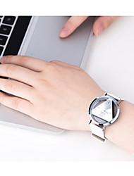 abordables -Mujer Cuarzo Digital Reloj digital Reloj Deportivo / Gran venta Piel Banda Vintage Negro Blanco Plata