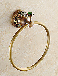 cheap -Towel Bar Contemporary Brass Stainless Steel 1 pc - Hotel bath towel ring