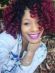 kanekalon curls Bouncy Curl Pre-loop synthetic Crochet Braids Hair Extensions Kanekalon Hair Braids 20roots/pack 100roots make one head