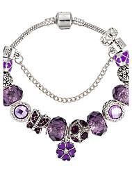 Bracelet Charmes pour Bracelets Cristal Alliage Forme de Fleur Forme de Noeud Forme d'Animal Naturel Mode Boîtes et sacs cadeauxMariage