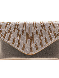 Women Bags All Seasons PU Clutch Crystal/ Rhinestone for Wedding Event/Party Formal Gold Black Silver Coffee
