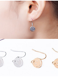 cheap -Round Face Smile Earrings Jewelry Wedding Party Daily Casual Alloy 1 pair Gold Silver