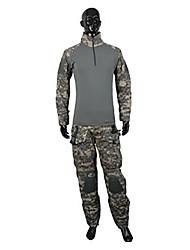 preiswerte -Herrn Damen Unisex Langarm Jagdjacke mit Hose Windundurchlässig Komfortabel camuflaje Kleidungs-Sets für Jagd S L XL