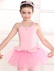 Ballet Dresses Children's Training Cotton Lace 1 Piece Short Sleeve Natural Leotard
