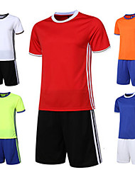 Kid's Soccer Clothing Suits Quick Dry Breathable Comfortable Spring Summer Winter Fall/Autumn Solid Polyester Leisure Sports Basketball